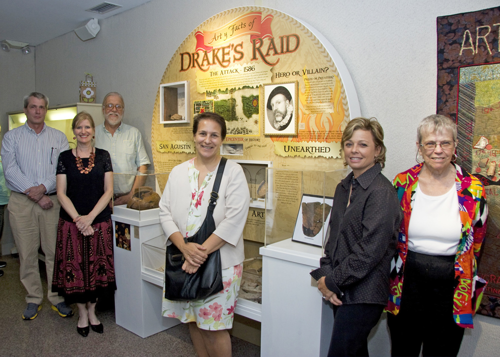 EXHIBIT TEAM. Stanford Adams (Curator/Builder); Elyse Brady (Project Director);Carl Halbirt (Archaeologist); Lisa O'Neil (Portrait Artist);Suzanne Strock (Graphic Artist); Mary Rhopa La Cierra (Fiber Artist); Pat Worrell (Content Writer)