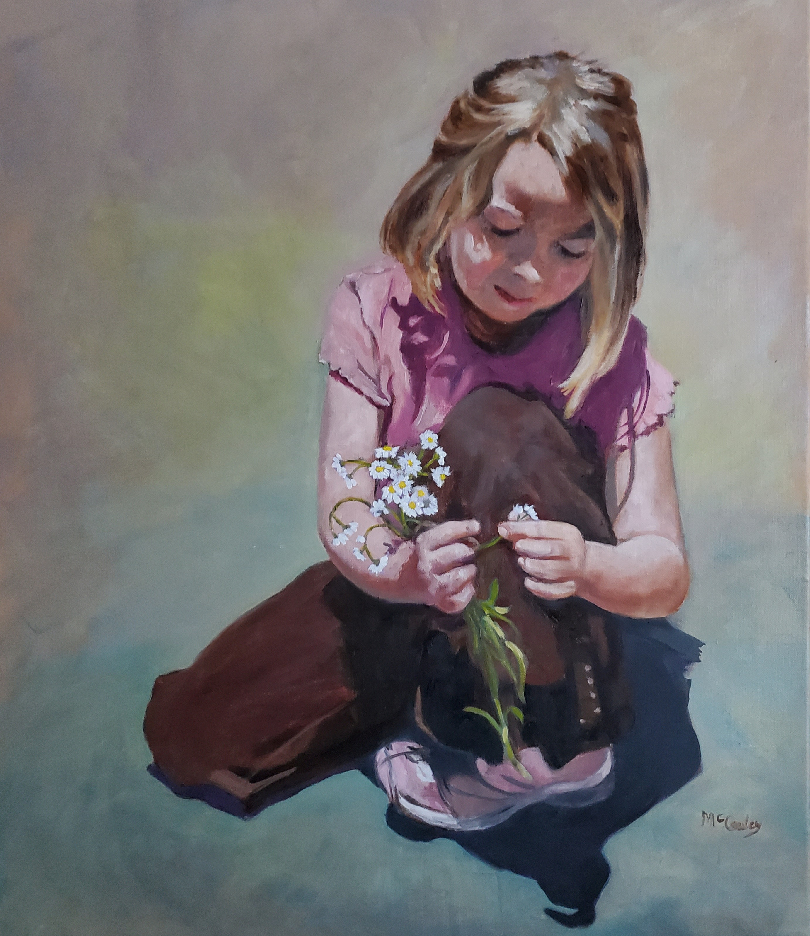 'Tiny Bouquet', oil on linen by Alison McCauley ($600)