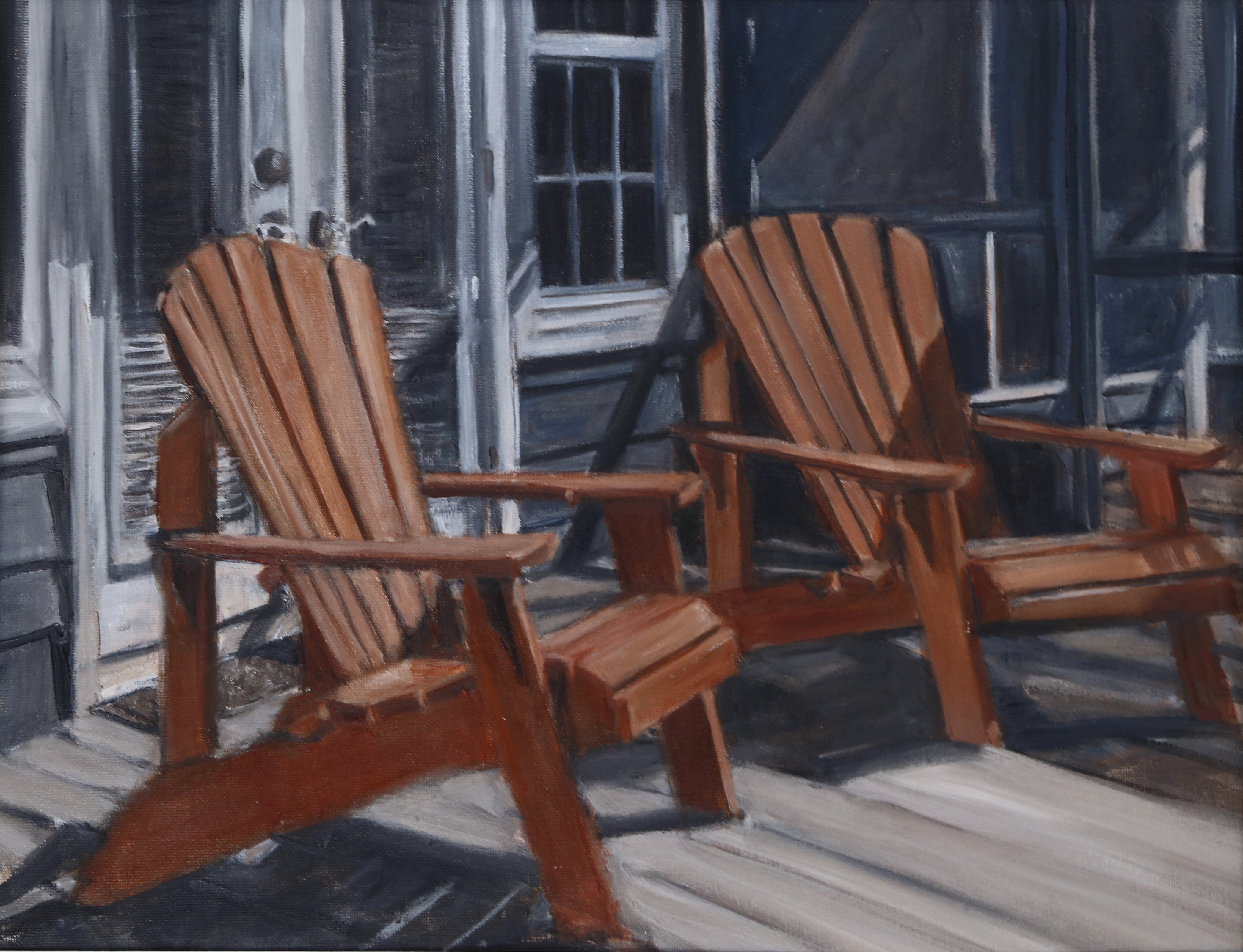 'No Guests', oil on canvas by Elaine Stecker ($250)